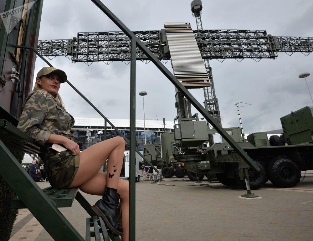 Participante da Exposição Internacional de Armas e Equipamento Militar MILEX-2019, em Minsk