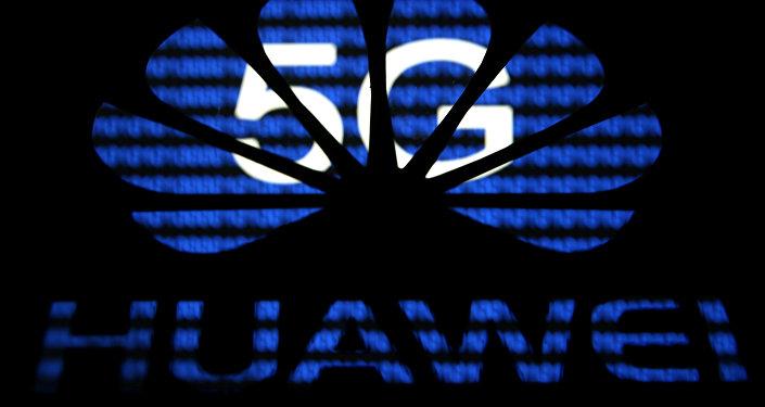 Logo da Huawei sobreposto ao 5G.