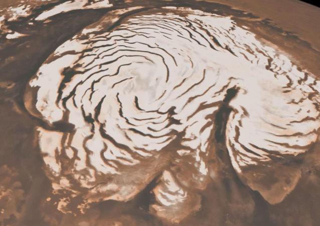 Calota de gelo polar de Marte