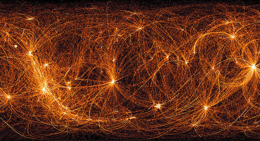 Raio x do céu tirado pela Neutron Star Interior Composition Explorer (NICER) da NASA a bordo da Estação Espacial Internacional (EEI)