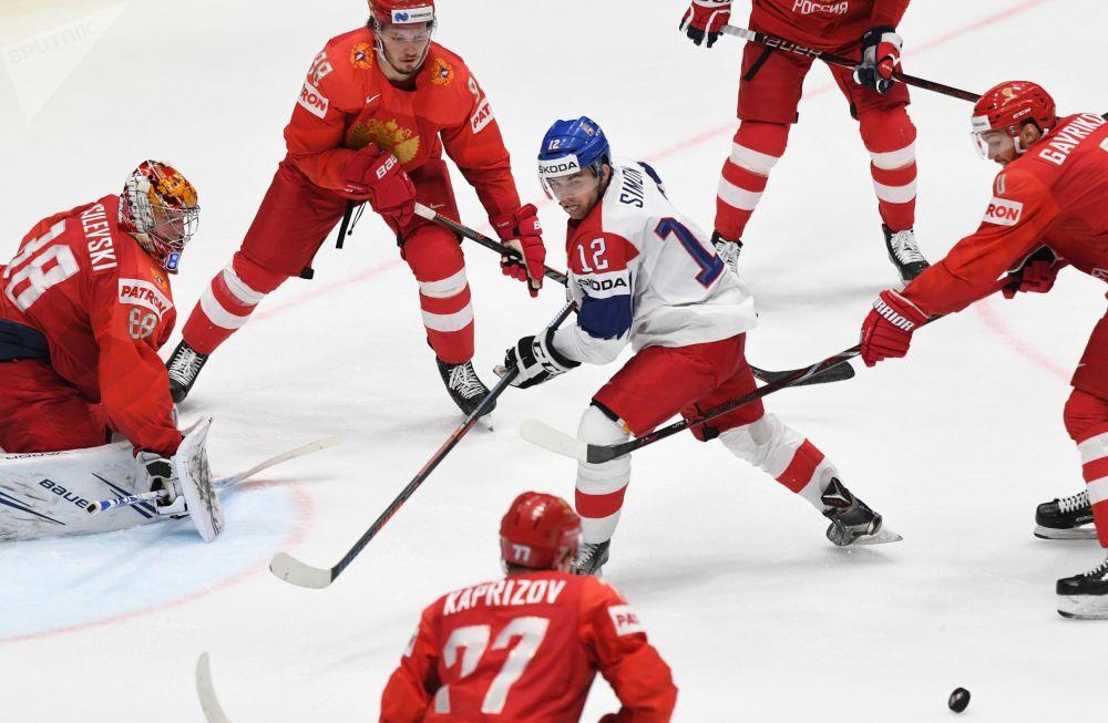 Equipas russa e tcheca se encontram na partida na Copa Mundial de Hóquei