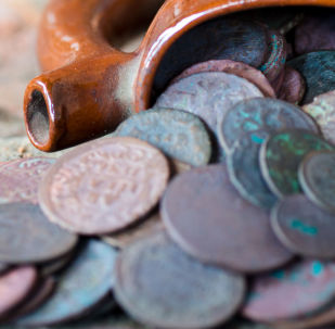 Antigas moedas.