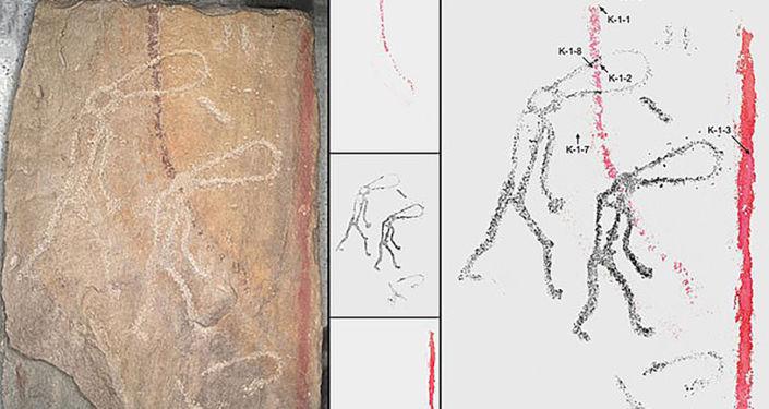 Arte rupestre de 5.000 anos em cidade siberiana