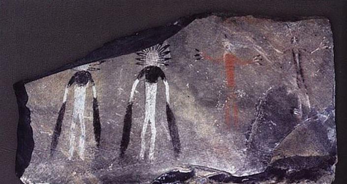 Arte rupestre criada por antigo povo siberiano