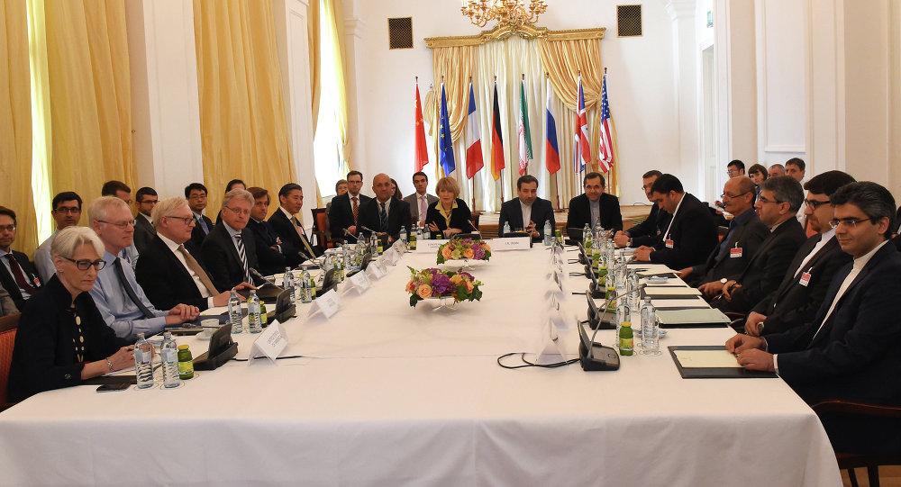 Reunião do grupo internacional P5+1 e autoridades do Irã em Viena, Áustria, para firmar acordo sobre programa nuclear iraniano (arquivo)
