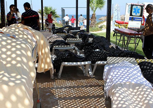 Atentado terrorista deixou quase 40 pessoas mortas nesta sexta-feira (26) na Tunísia