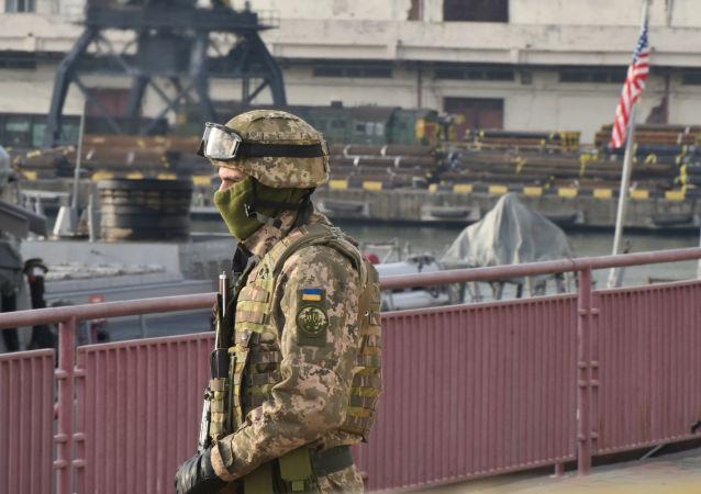 O destróier norte-americano entrou no porto ucraniano de Odessa