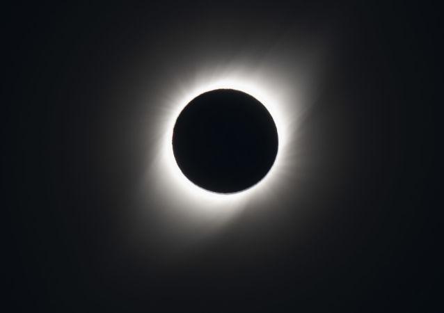 Eclipse solar total visto de El Molle, Chile, 2 de julho de 2019