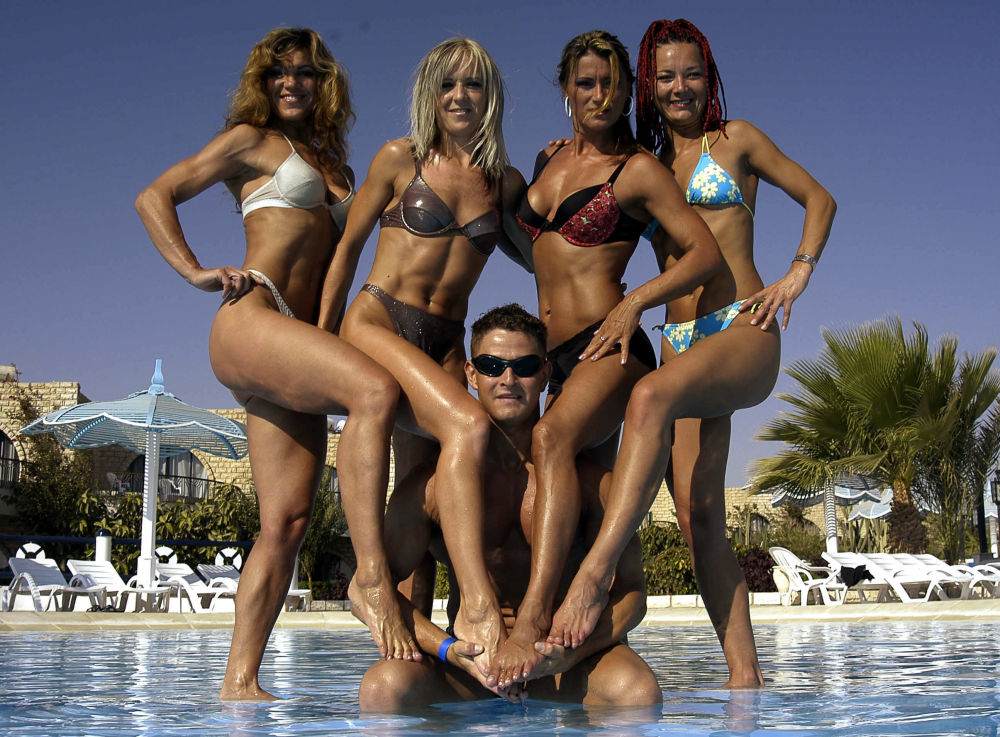 Equipe nacional de fitness da Eslováquia, em 30 de julho de 2005