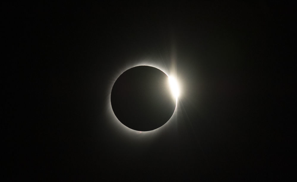 Eclipse solar visto de um observatório no Chile, em 2 de julho de 2019