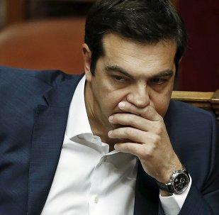 Primeiro-ministro da Grécia, Alexis Tsipras (arquivo)
