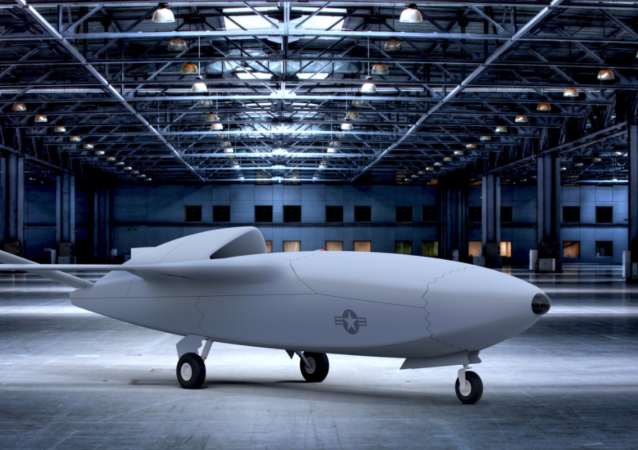 Drone do programa Skyborg do Laboratório de Pesquisa americano