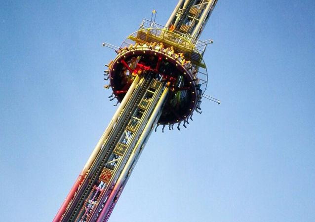 Atração em um parque de diversão