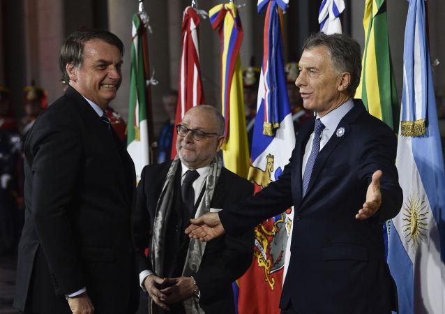 Jair Bolsonaro, presidente do Brasil, com o líder argentino Mauricio Macri (arquivo)