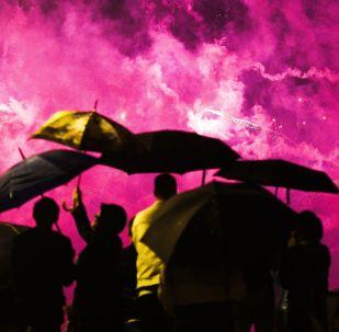 Festival Internacional de Fogos de Artifício Rostec no Parque Brateyevskiy, em Moscou, 17 de agosto de 2019