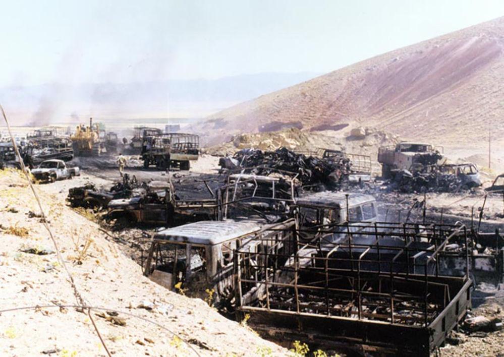 Os Mujahideen do Povo do Irã, apoiados por Saddam, no início de uma operação de dez dias após os governos iraniano e iraquiano terem aceitado a Resolução 598 da ONU. As estimativas das vítimas variam entre 2.000 e 10.000