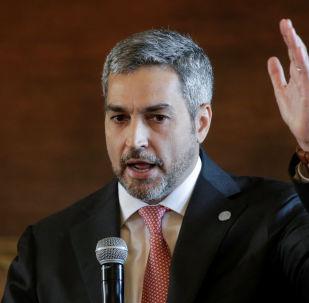 Mario Abdo Benítez, presidente do Paraguai.