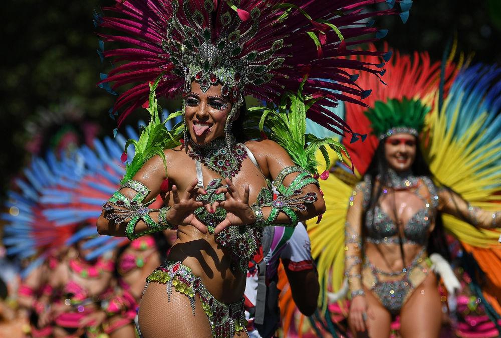 Participante do Carnaval em Notting Hill