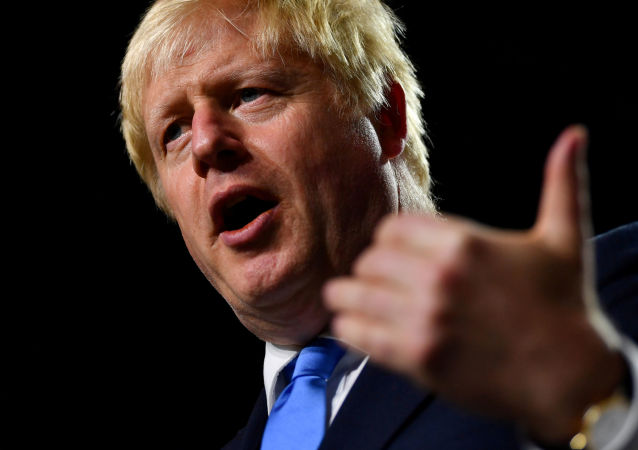 O primeiro-ministro britânico Boris Johnson