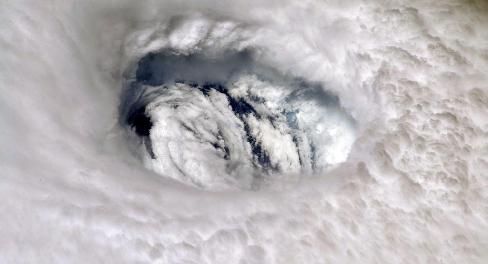Fotografia do furacão Dorian tirada a partir da Estação Espacial Internacional