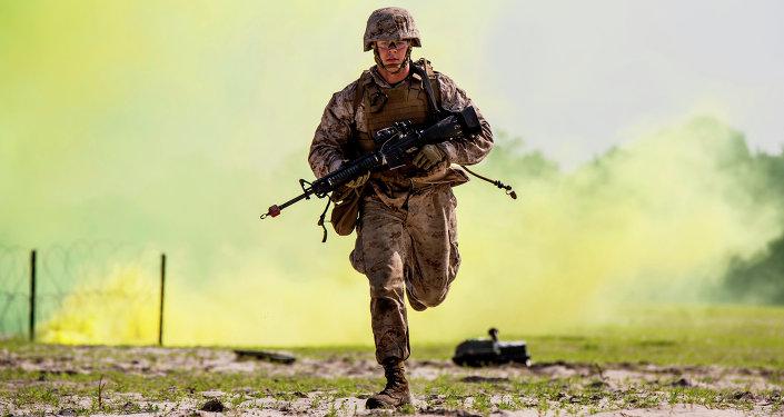 Un marine estadounidense