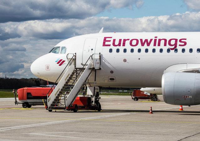 Um Airbus da companhia aérea Eurowings