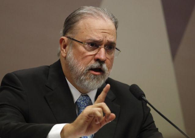 Subprocurador Augusto Aras durante sabatina na Comissão de Constituição e Justiça do Senado (CCJ)
