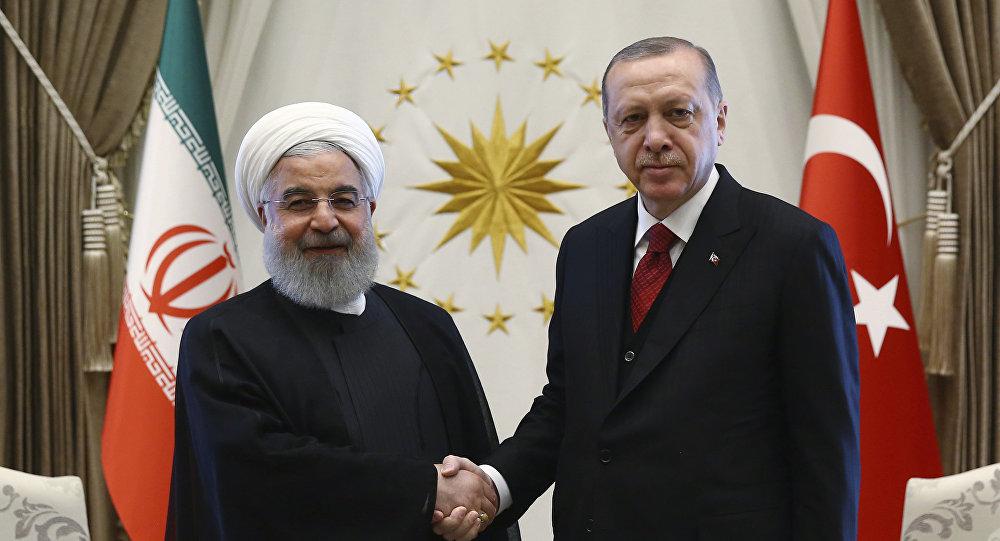 Recep Tayyip Erdogan e Hassan Rouhani