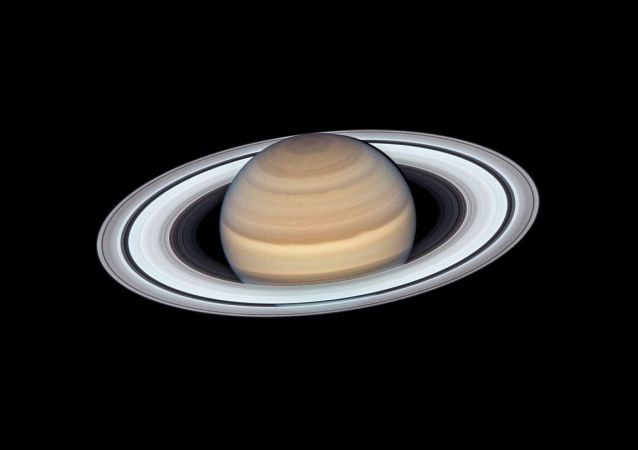 Foto de Saturno feita pelo telescópio espacial Hubble da NASA