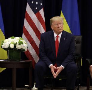 Presidente Donald Trump encontra seu homólogo ucraniano, Vladimir Zelensky, no hotel InterContinental Barclay em Nova York, Estados Unidos