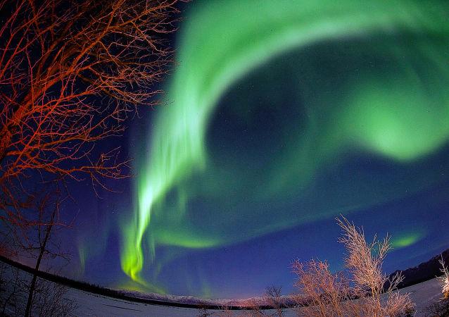 Aurora boreal nos EUA (imagem referencial)