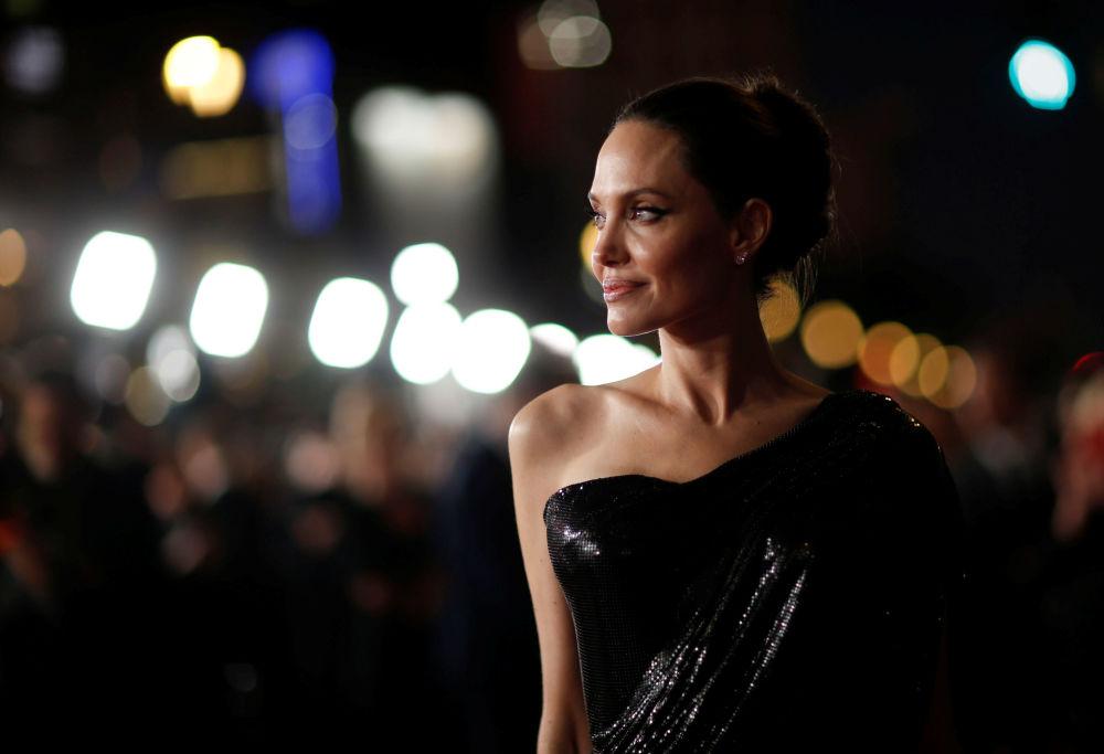 Angelina Jolie na estreia do filme Malévola - Dona do Mal, em Los Angeles, EUA