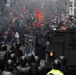Protestos em Equador