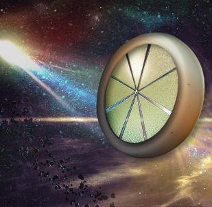 Sonda espacial voando para a Nuvem de Oort, que se encontra nos limites do Sistema Solar