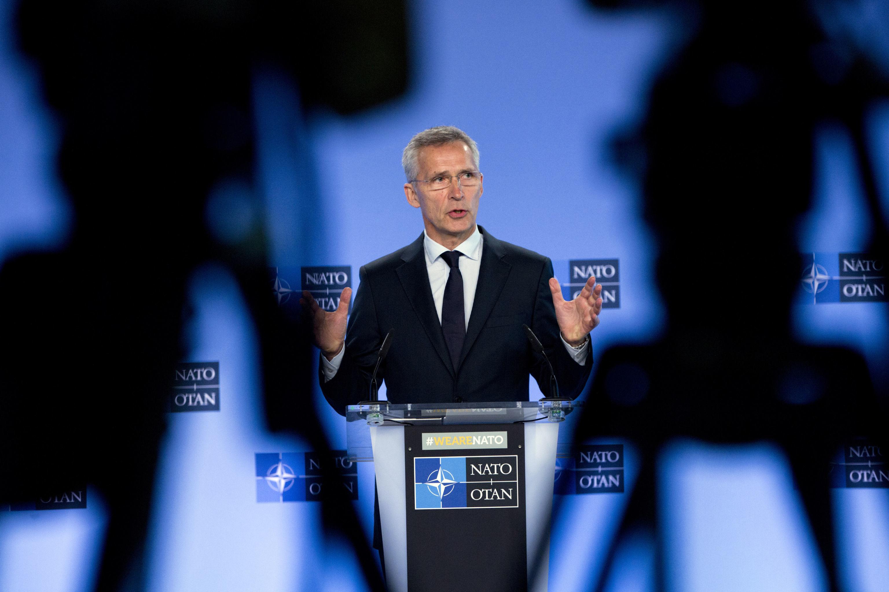 Porta-voz da OTAN e ex-primeiro ministro da Noruega, Jens Stoltenberg