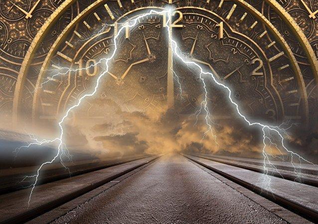Máquina do tempo (imagem ilustrativa)