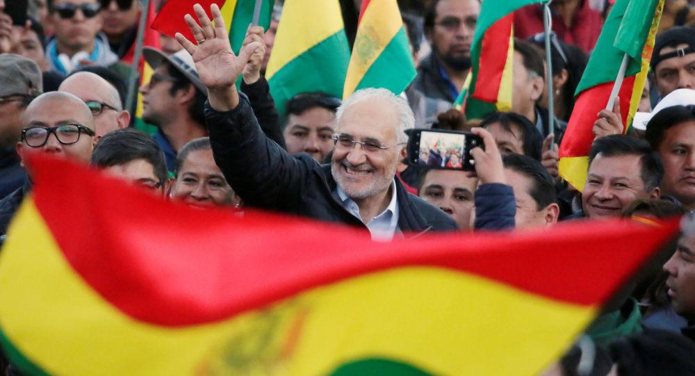 Carlos Mesa, candidato presidencial boliviano.