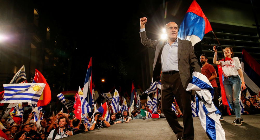 Daniel Martínez, candidato à presidência do Uruguai pelo Frente Amplio