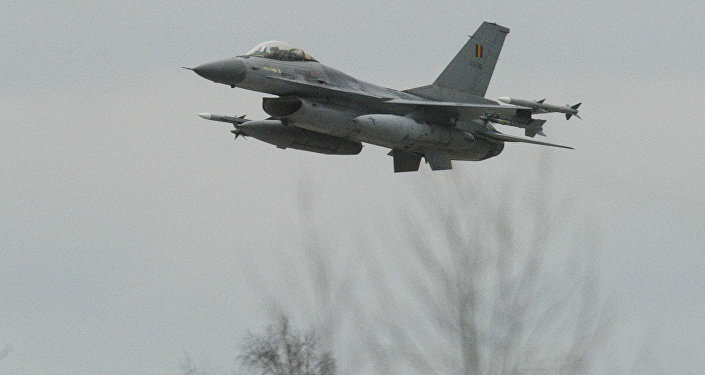 Caça F-16 da Força Aérea belga