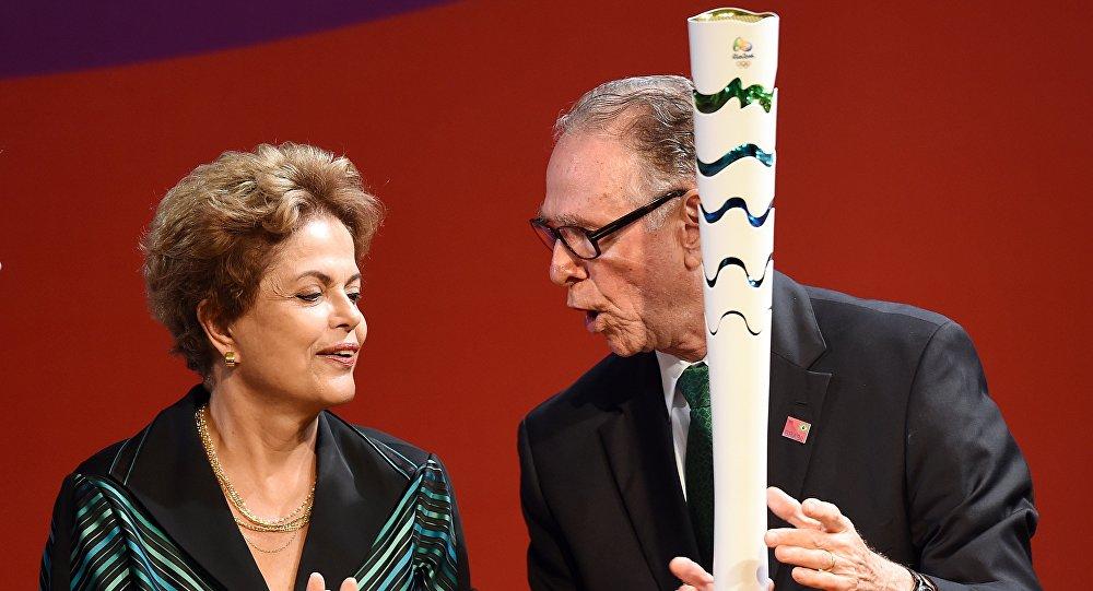 Tocha Olímpica dos Jogos de 2016, apresentada nesta sexta-feira (3) em Brasília