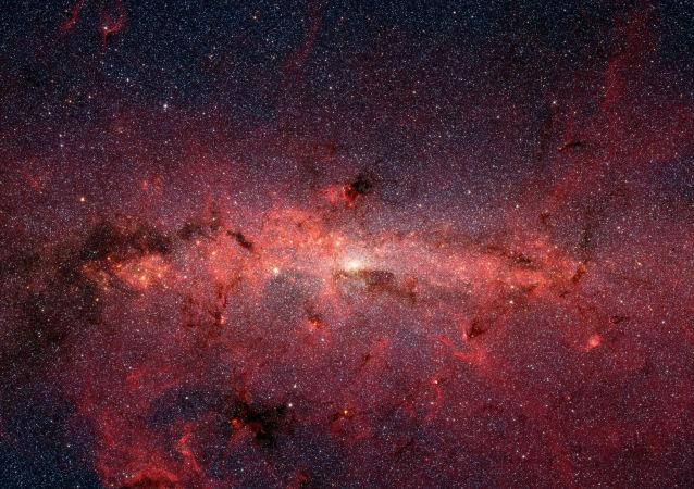 Centro da Via Láctea filmado pelo telescópio Spitzer