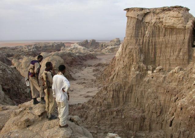 Complexo geotérmico de Dallol, no deserto de Danakil, na Etiópia