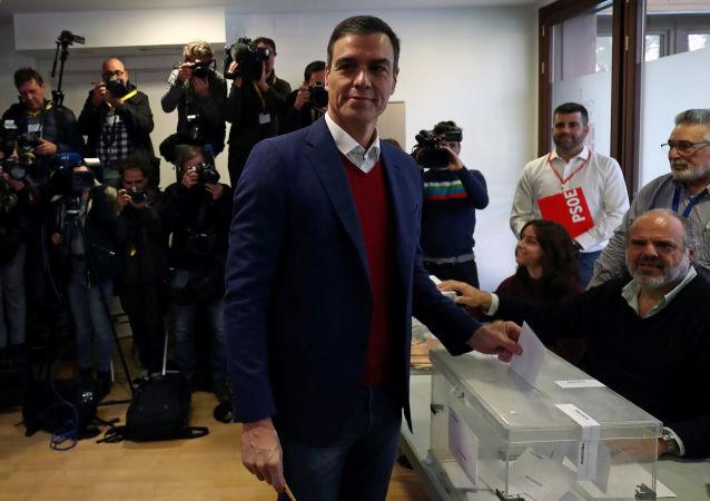 O premiê interino da Espanha, Pedro Sánchez.