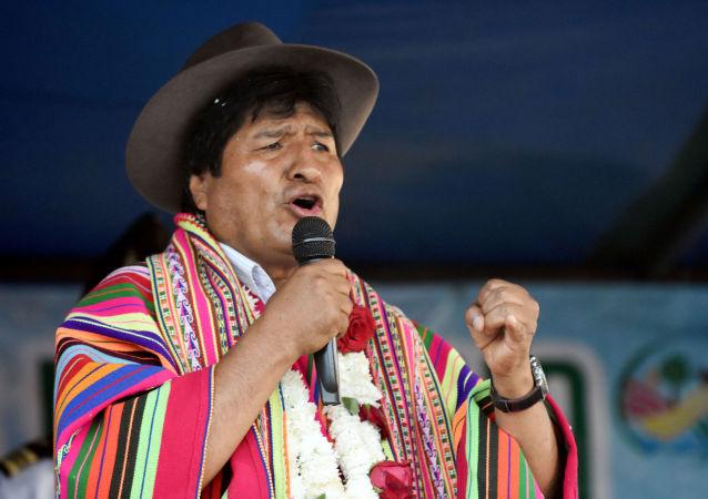 Evo Morales, presidente da Bolívia, fala durante cerimônia em Sicaya, Cochabamba, Bolívia, em 26 de outubro de 2019