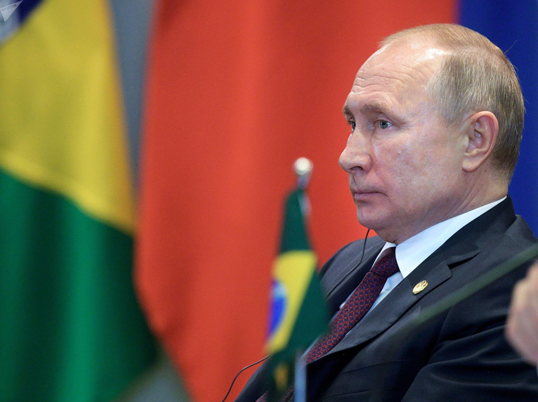 Presidente da Rússia, Vladimir Putin, durante a 11ª Cúpula de Chefes de Estado do BRICS, celebrada em Brasília, ente os dias 13 e 14 de novembro