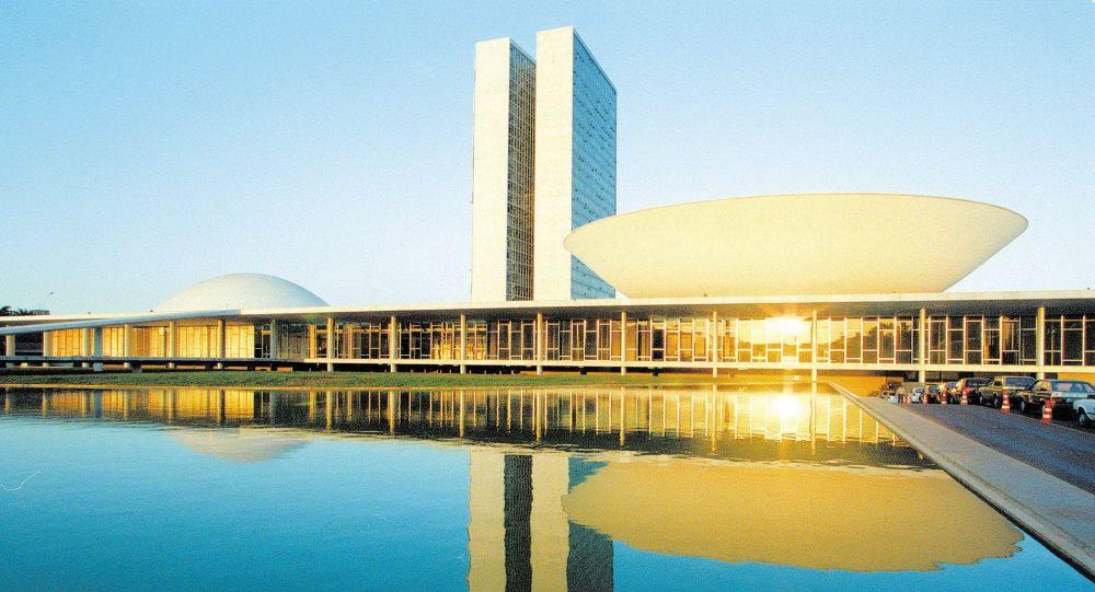 Fachada do prédio do Congresso Nacional, em Brasília (DF).