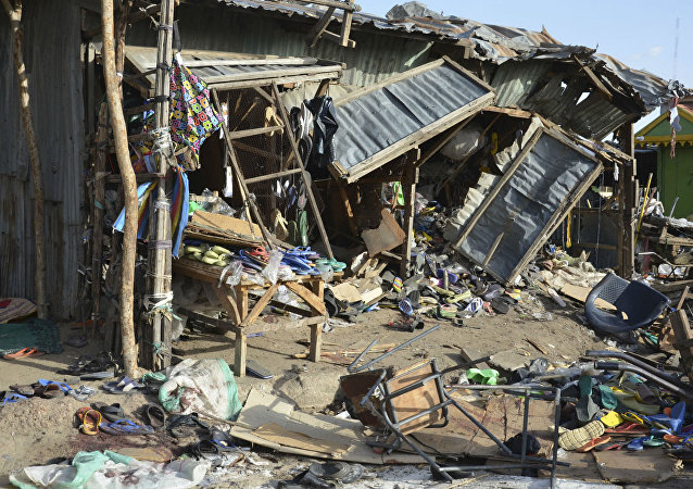 Atentado terrorista promovido pelo Boko Haram.