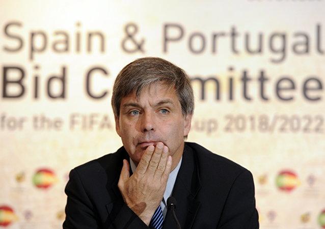 Harold Mayne-Nicholls, ex-presidente da federação chilena de futebol e do grupo de avaliação das Copas do Mundo de 2018 e 2022