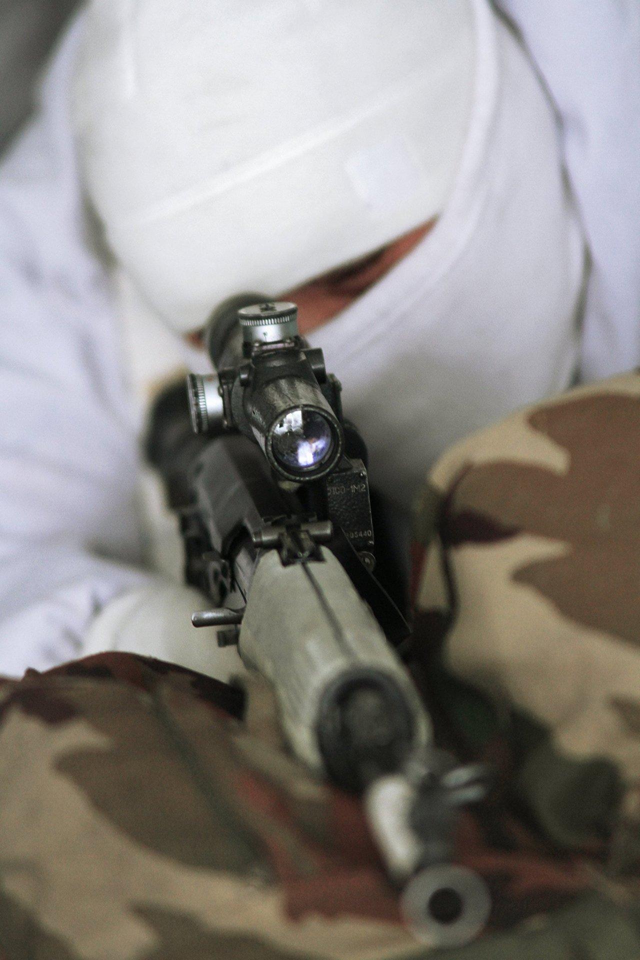 Exercícios de franco-atiradores na Rússia