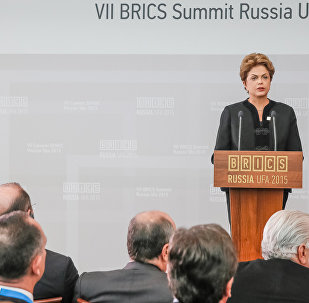 Presidenta Dilma Rousseff durante VII Cúpula do BRICS. (Ufa - Rússia, 09/07/2015)